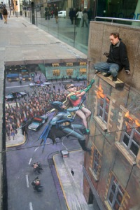 Batman-and-Robin-julian-beever