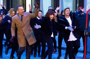 Justin Bieber and Tom Hanks film a music video in Soho, NY