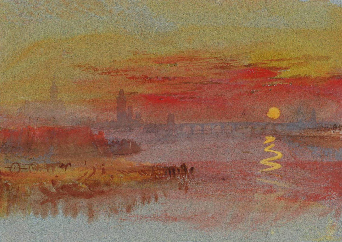 Sunday pic william turner coucher de soleil ecarlate - L heure du coucher du soleil aujourd hui ...