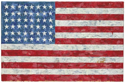 Works from the Collection of Michael Crichton Christie's Post-War & Contemporary Art Evening Sale New York, May 11, 2010 Jasper Johns Flag encaustic on newspaper collage on lithograph laid on canvas 17 ∏ x 26 ≤ inches Painted in 1960-1966.